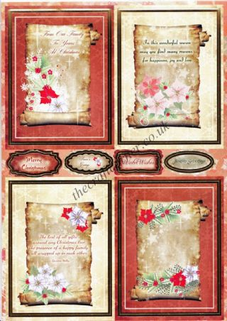 Die Cut Foil Christmas Scroll Toppers and Backing Card from Craft UK Ltd